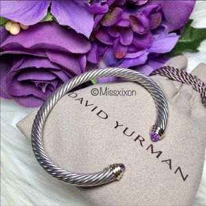 ❤️David Yurman Cable Bracelet with Amethyst & 14K